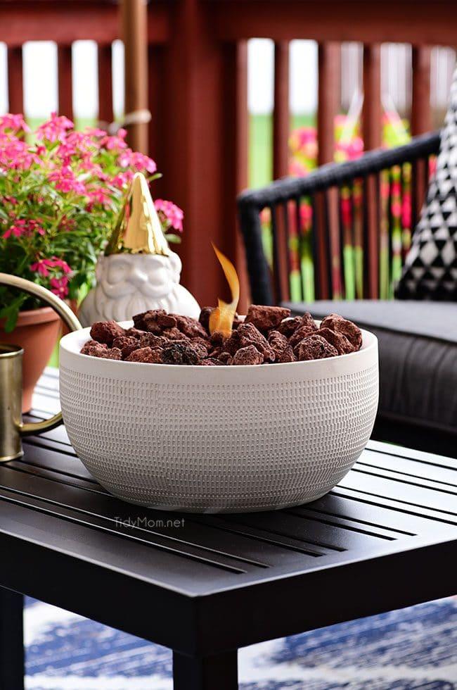 diy tabletop fire bowl tidymom