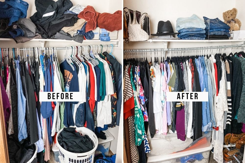 How To Organize A Messy Closet: Before & After
