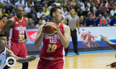 Tiebreaker Times Greg Slaughter believes Ginebra can still play at a higher level amid back-to-back wins Basketball News PBA  PBA Season 43 Greg Slaughter Barangay Ginebra San Miguel 2018 PBA Commissioners Cup