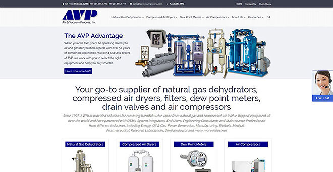 Website Redesign for industrial distributor