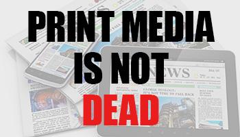 Print media used in industrial marketing
