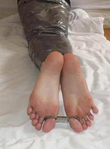 mummified_legs__barefeet_and_cuffed_toes_by_elklulu-da48a9d