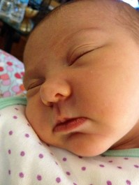 7 Days Old: Chubby cheeks. Missing those!