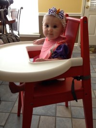First time in the highchair...