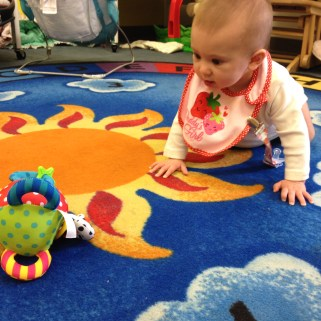 Determined to crawl!