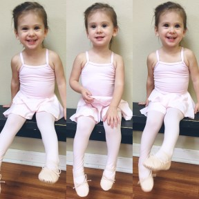 Claire started taking ballet and tap this year. We are close to her first recital date. One month!