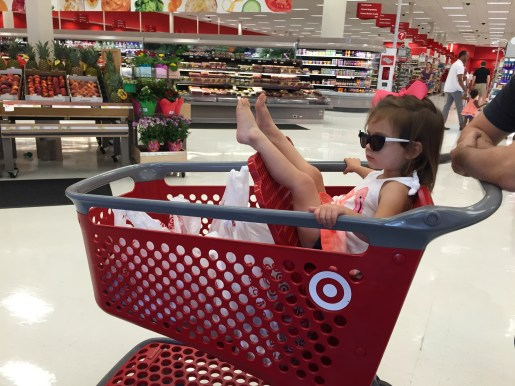 Day 5: We took a trip to Target. Her first outting with panties. She did fantastic (and she was clearly relaxed)! :)