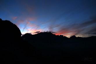 Sonnenuntergang in der Balmhornhütte