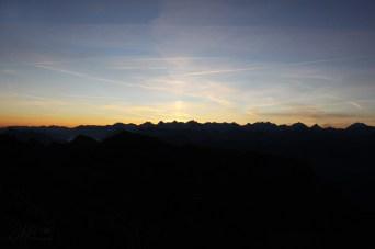 Sonnenaufgang auf der Kaiseregg