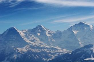 Beste Sicht auf Eiger, Mönch und Jungfrau