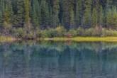 Spiegelung am Lightning Lake