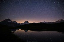 Schreckhorn by night