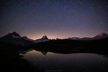 Schreckhorn by night