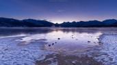 Prächtige Farbenstimmung vor Sonnenaufgang