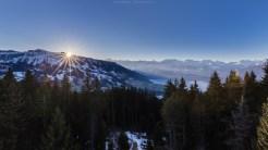 Sonnenaufgang über dem Thunersee