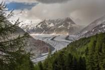 Blick auf den Aletschgletscher