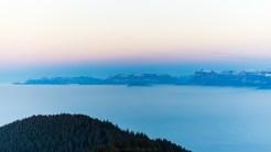 Abendstimmung über dem Nebelmeer