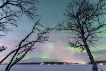 Nordlichter in der Nähe von Kiruna