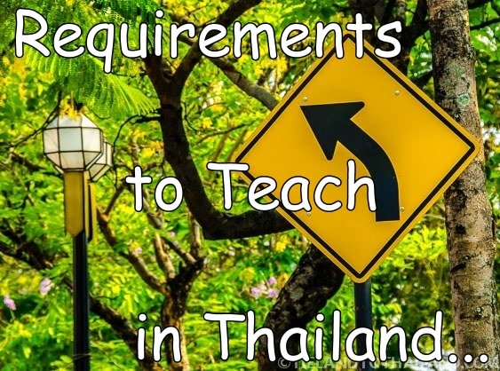 Requirements to Teach in Thailand