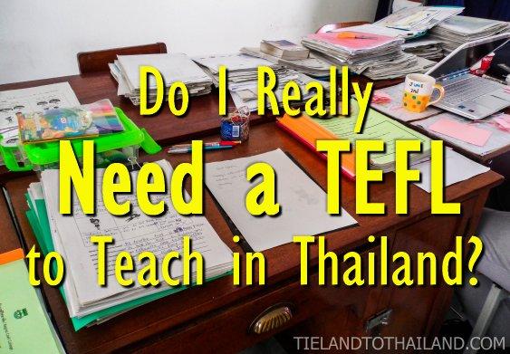 Do I really need a TEFL?