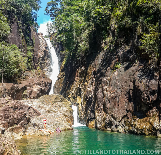 Khlong Phlu Waterfall during our trip to Koh Chang