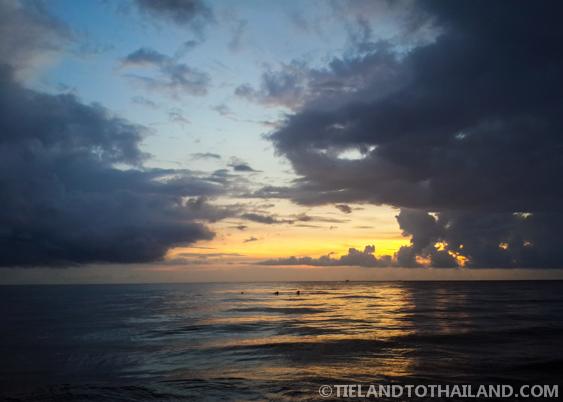 Koh Chang Sunset at White Sand Beach