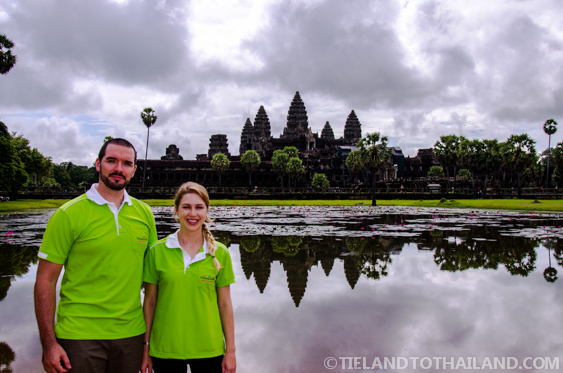 We used a Thai re-entry permit to visit Angkor Wat in Cambodia