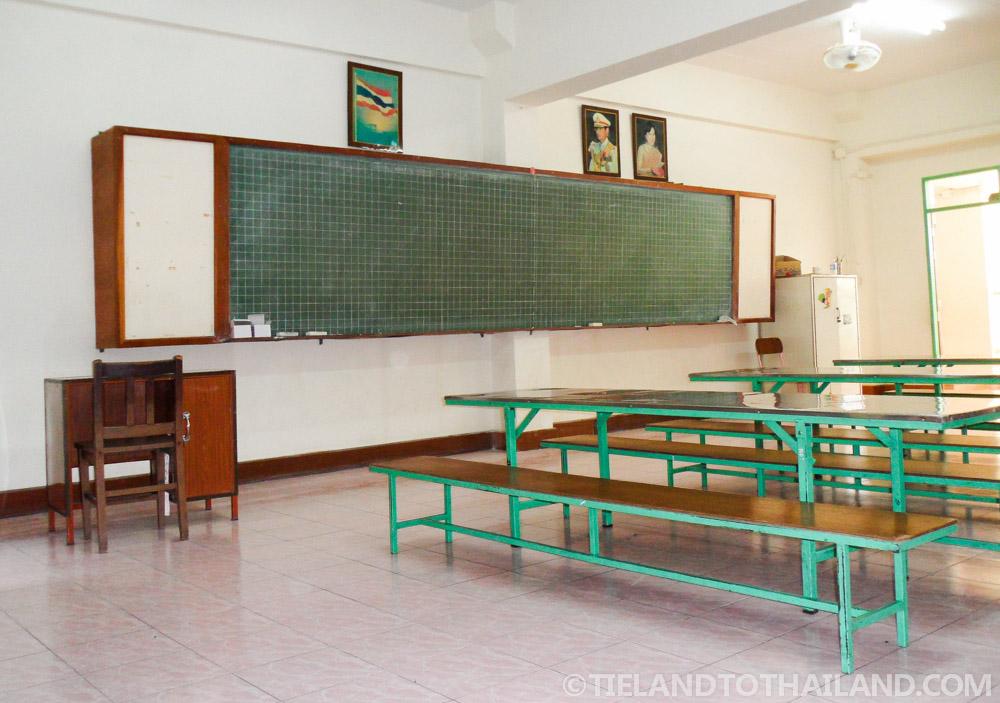 Empty Thai classroom