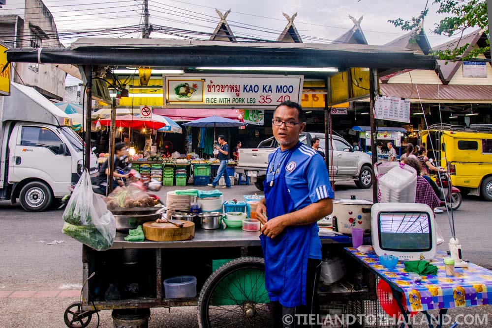 Braised Pork Leg at Chiang Mai Gate Food Stalls