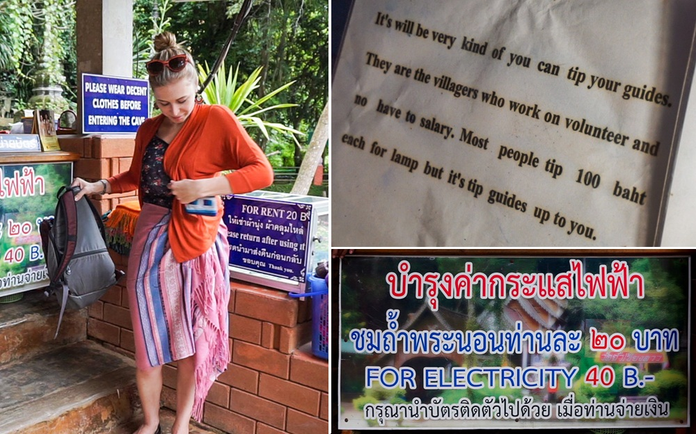 Chiang Dao Caves: Entrance Fee and Proper Temple Attire