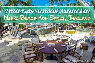 Amazing Sunday Brunch at Nikki Beach Koh Samui