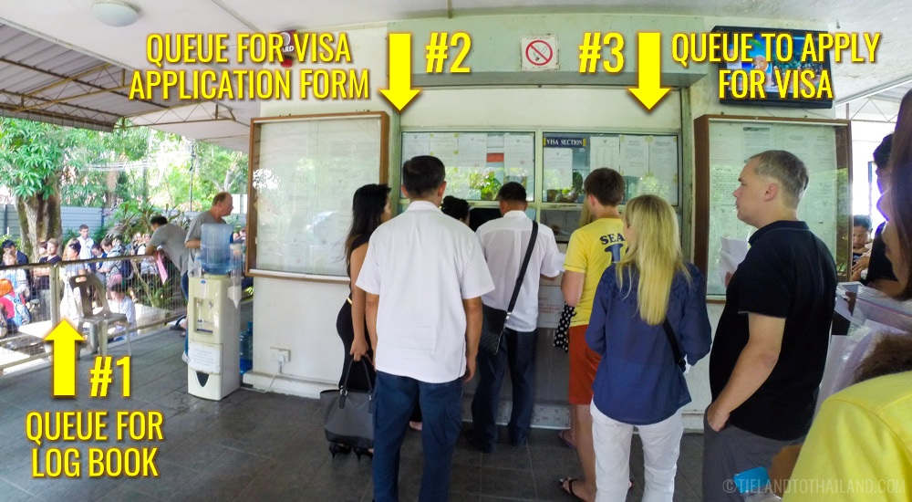 Where to line up during a Thai visa run in Penang