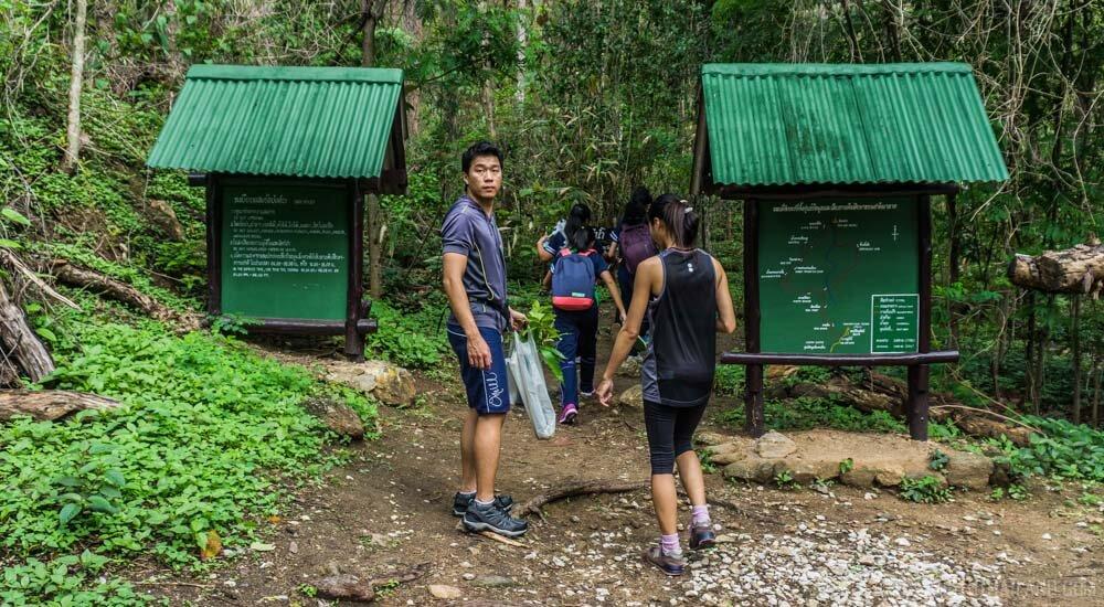 Entrance to the Monk's Trail to Wat Pha Lat on Doi Suthep