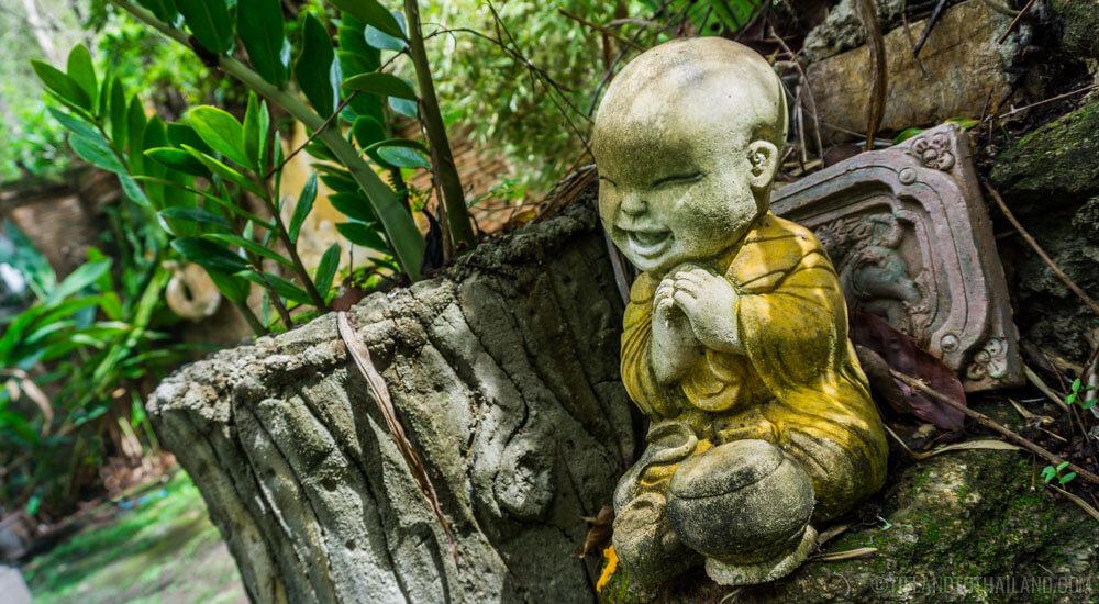 Happy Buddha at Wat Pha Lat