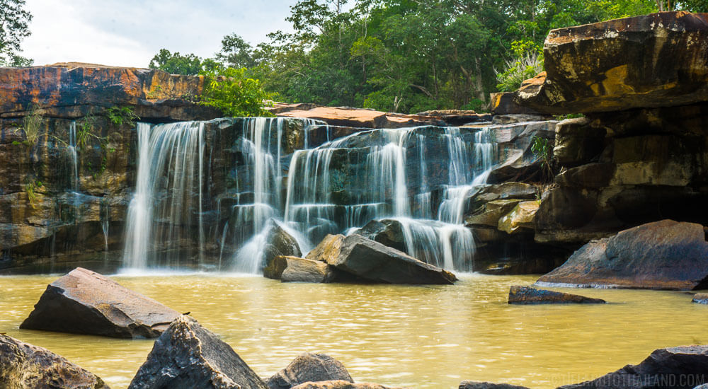 Tatton Waterfall at the Tat Ton National Park in Chaiyaphum, Thailand