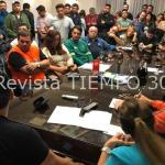 MENÉNDEZ CON EL GABINETE AMPLIADO ENFRENTA LA CONSECUENCIA DEL TEMPORAL