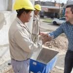 Leo Nardini recorrió las Obras de mejoras en la Unidad Funcional de Tierras Altas