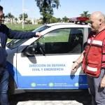 El intendente Leo Nardini hizo entrega de un nuevo móvil para Defensa Civil y Emergencias de Malvinas Argentinas