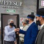 """Leo Nardini visitó la planta de IMPRESUR: """"Con el acompañamiento del Estado, motorizar la producción y tratar de poner al País de pie"""""""