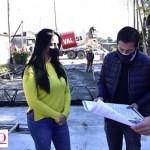 """Nardini visitó obra de calle Villa de Mayo: """"Haciendo la conectividad necesaria para que nuestra gente pueda vivir dignamente"""""""