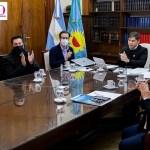 El gobernador Kicillof acompañado por los intendentes Nardini y Cocconi presentó un plan de 750 obras en la provincia
