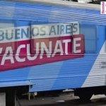 El tren sanitario en tránsito por 14 estaciones de la provincia de Buenos Aires para realizar hisopados y aplicar vacunas