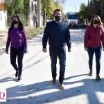 """Leo Nardini monitoreó el avance de obras en barrio El Primaveral: """"Más obras para impulsar el crecimiento de Malvinas Argentinas"""""""