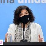"""Ministra Vizzotti: """"Agosto será el mes de las segundas dosis"""""""
