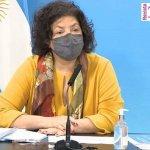 La ministra Vizzotti garantizó el esquema completo de vacunación  con dos dosis contra el coronavirus en todas las franjas etarias