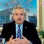 El Presidente Fernández encabezó en forma virtual el lanzamiento de la ampliación del Programa Ahora 12