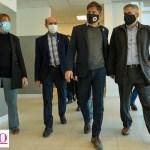 Guillermo Britos recibió al gobernador Kicillof y al ministro Kreplak. Recorrieron el Hospital Santiago Fornos y entregaron ambulancia