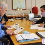 El ministro Leo Nardini recibió a los intendentes de Avellaneda y Berisso