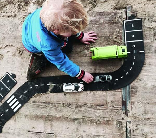 carreteras flexibles para montar y jugar