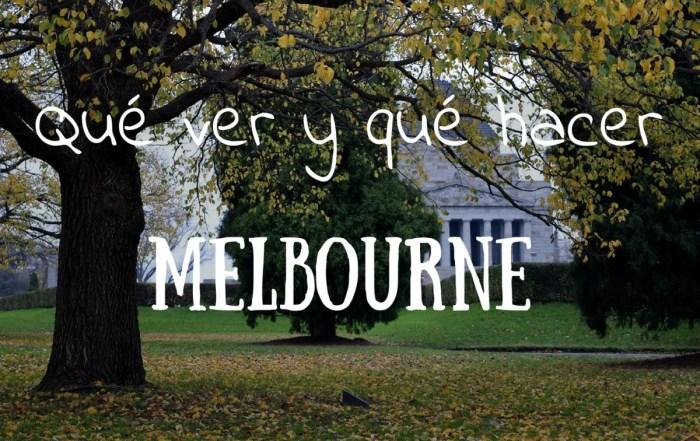 Qué ver y qué hacer Melbourne